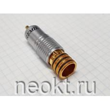RCA штекер 1-280 GOLD ЧЁРНЫЙ (РАСПРОДАЖА)