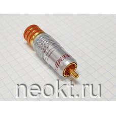 RCA штекер 1-280 GOLD КРАСНЫЙ (РАСПРОДАЖА)