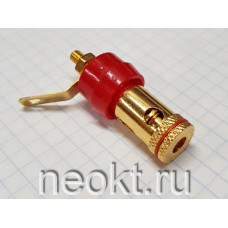 Клемма Acoustic 1-667 GOLD КРАСНАЯ (РАСПРОДАЖА)