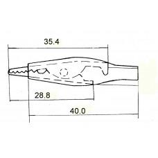 """8-0026 зажим """"крокодил"""" большой чёрный"""