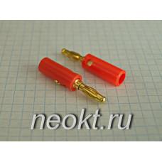 BP-214M (штекер BANANA красный золотой) - 10-0015 GOLD